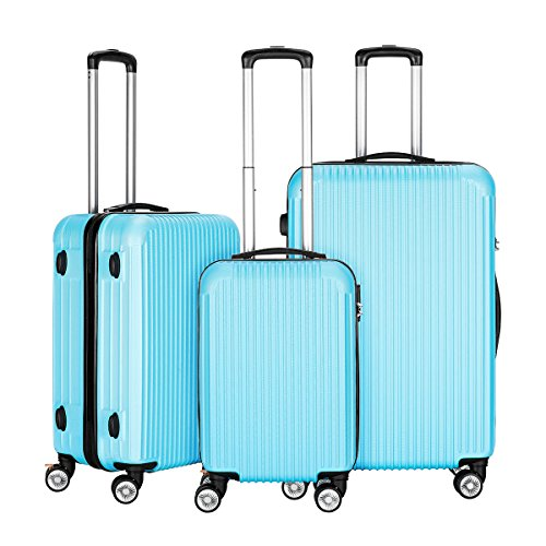 innerteck-3-piece-luggage-set-spinner-hardshell-lightweight-suitcase-set-blue