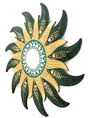 (Wall Mirror Mosaic Wall Decor Wall Mirror Wall Hanging Mirror Celestial Sun Design- Handmade - OMA BRAND)
