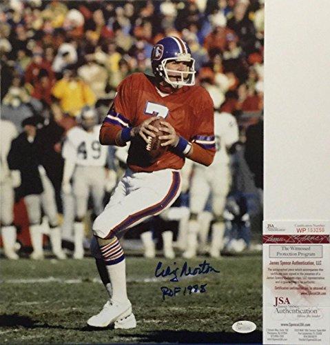 Craig Morton Signed Denver Broncos 11x14 Photo
