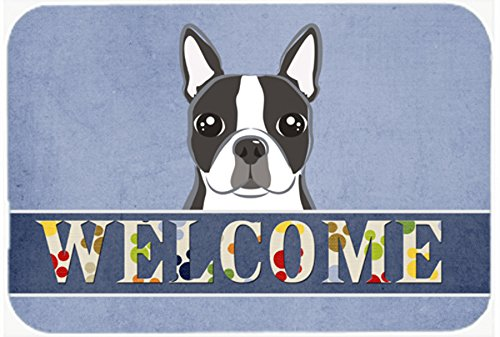 Boston Garden Rug - Caroline's Treasures BB1389JCMT Boston Terrier Welcome Kitchen or Bath Mat, 24 by 36