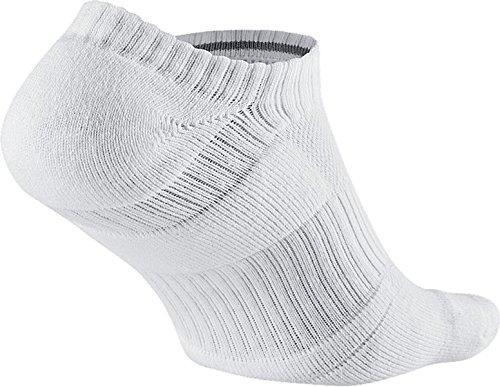 Nike Dri-Fit Performance No-Show Calcetines, Hombre, Blanco/Gris (White/Cool Grey), L: Amazon.es: Zapatos y complementos