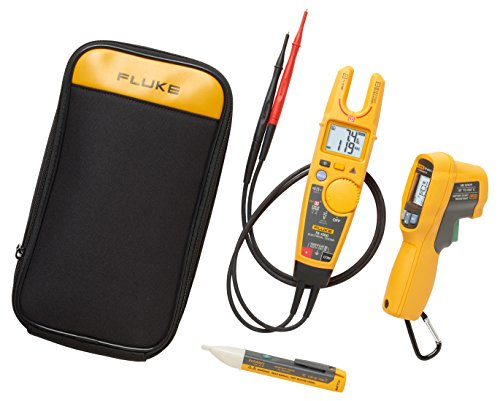 Fluke 4910400 T6-600/62MAX+/1AC Kit with Test Meter, IR Thermometer and NCV Tester