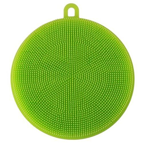 generic-silicone-washing-scrubber-dishcloth-dish-wash-sponge-reusable-cleaning-tool-green