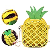 Sunroyal Pineapple Shape PU Hollow Women Shoulder Cross Body Bag Clutch Purse