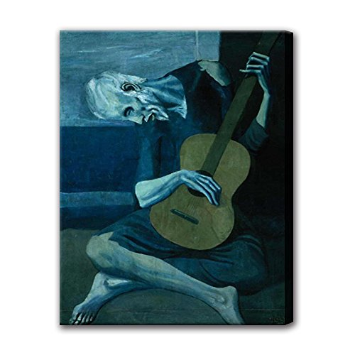 Pablo Picasso Abstract Art (The Old Guitarist by Pablo Picasso Abstract Art Oil paintings on Canvas Wall Art Home Decoration)