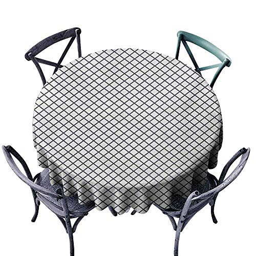 (Ficldxc Restaurant Tablecloth Modern Geometrical Stripes Crossing Zig Zag Basket Braid Like Image Charcoal Grey Black and White Table Decoration D71)