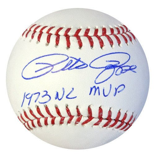 Pete Rose Signed Rawlings Official Major League Baseball Cincinnati Reds 1973 NL MVP - PSA/DNA Authentication - Autographed MLB Baseballs ()