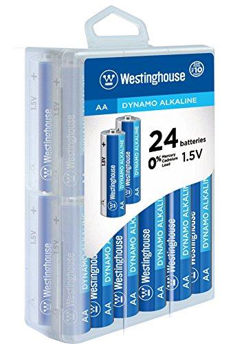 Westinghouse Alkaline 96 Bat-4dbl Blister Packs-24 Piece, AA