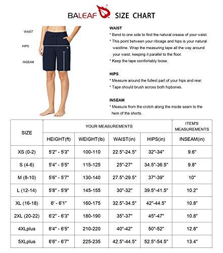 "BALEAF Women's 10"" Athletic Bermuda Cotton Shorts Walking Sweat Jersey Long Shorts Casual Activewear with Elastic Waist"