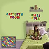 Fathead 69-00040 Wall Decal, Kids Letters