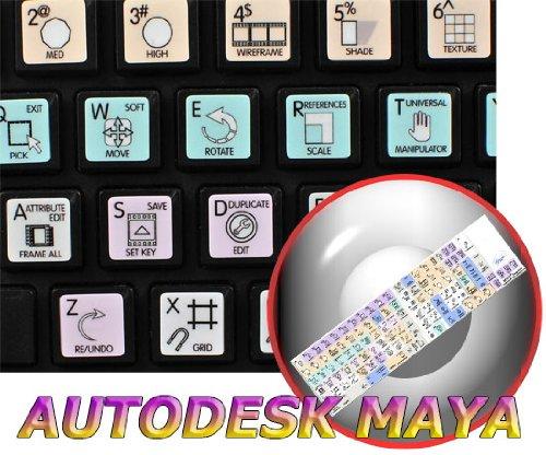 AUTODESK MAYA GALAXY SERIES KEYBOARD STICKERS 12X12 SIZE