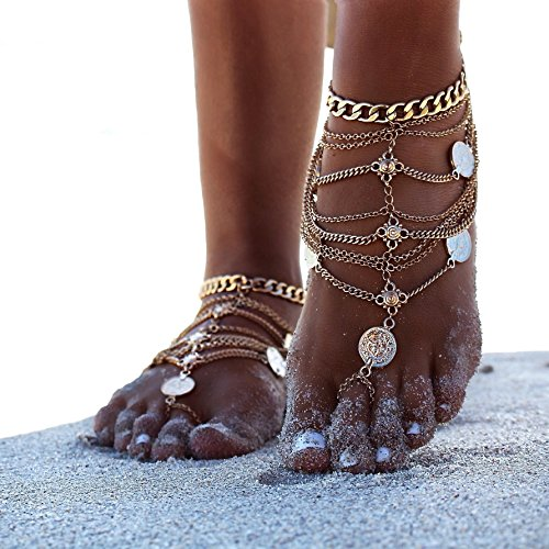 zhenhui-1-pair-boho-vintage-silver-tone-gold-tone-coin-blessing-symbol-tassel-indian-anklets-foot-je