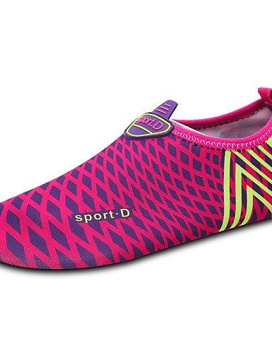 PDX/ Damenschuhe-Slippers-Outddor / Sportlich-Stoff-Flacher Absatz-Komfort-Blau / Rot / Mehrfarbig , light blue-us6 / eu36 / uk4 / cn36 , light blue-us6 / eu36 / uk4 / cn36