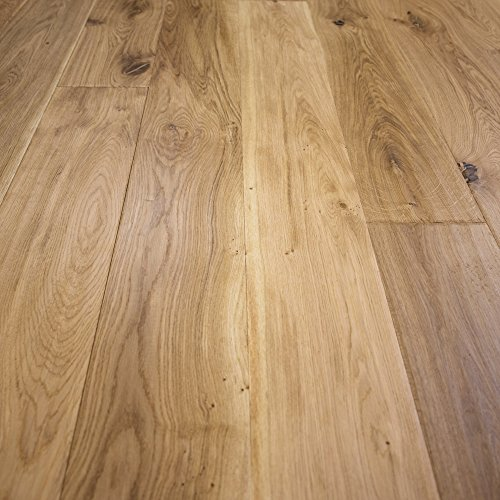 "Prefinished Taun Solid Hardwood Flooring 5 8 X 4 3 4: Wide Plank 7 1/2"" X 1/2"" European French Oak Unfinished"