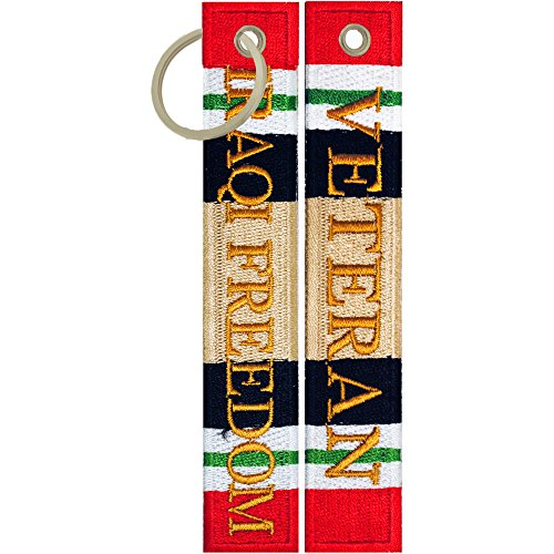 - Iraqi Freedom Veteran Keychain Luggage Tag Key Ring Military Gifts