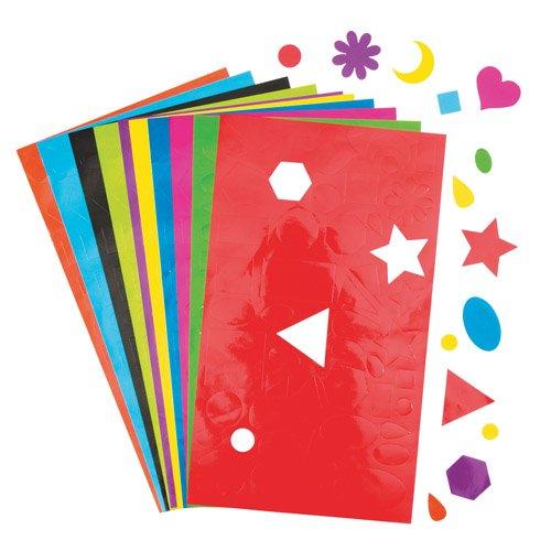 Baker Ross Pegatinas con Formas geométricas Que los Niños Pueden Usar para Decorar y adornar Tarjetas, Collages y Manualidades - Excelente para Actividades Escolares (Pack de 350).
