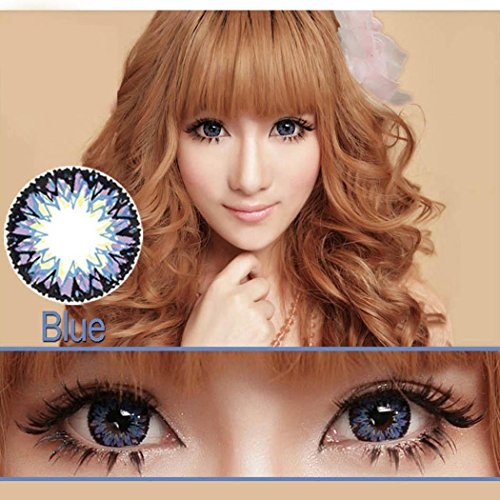 (Dicesnow 0 Dgree Large Diameter Eyes Color Contacts Lens Beautiful Eyes Makeup Cosmetic(One Piece)