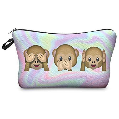 Federmäppchen Kosmetiktasche Federtasche Stiftemappe Make Up Täschchen Full Print All Over Bag Fresh Hollo Monkeys[009] Hollo Monkeys