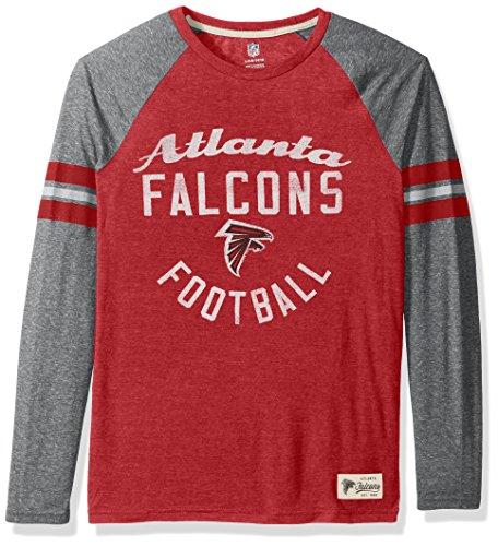 NFL Youth Boys Football Pride Pride Long Sleeve Tee-Heather Dark Red-L(14-16), Atlanta ()
