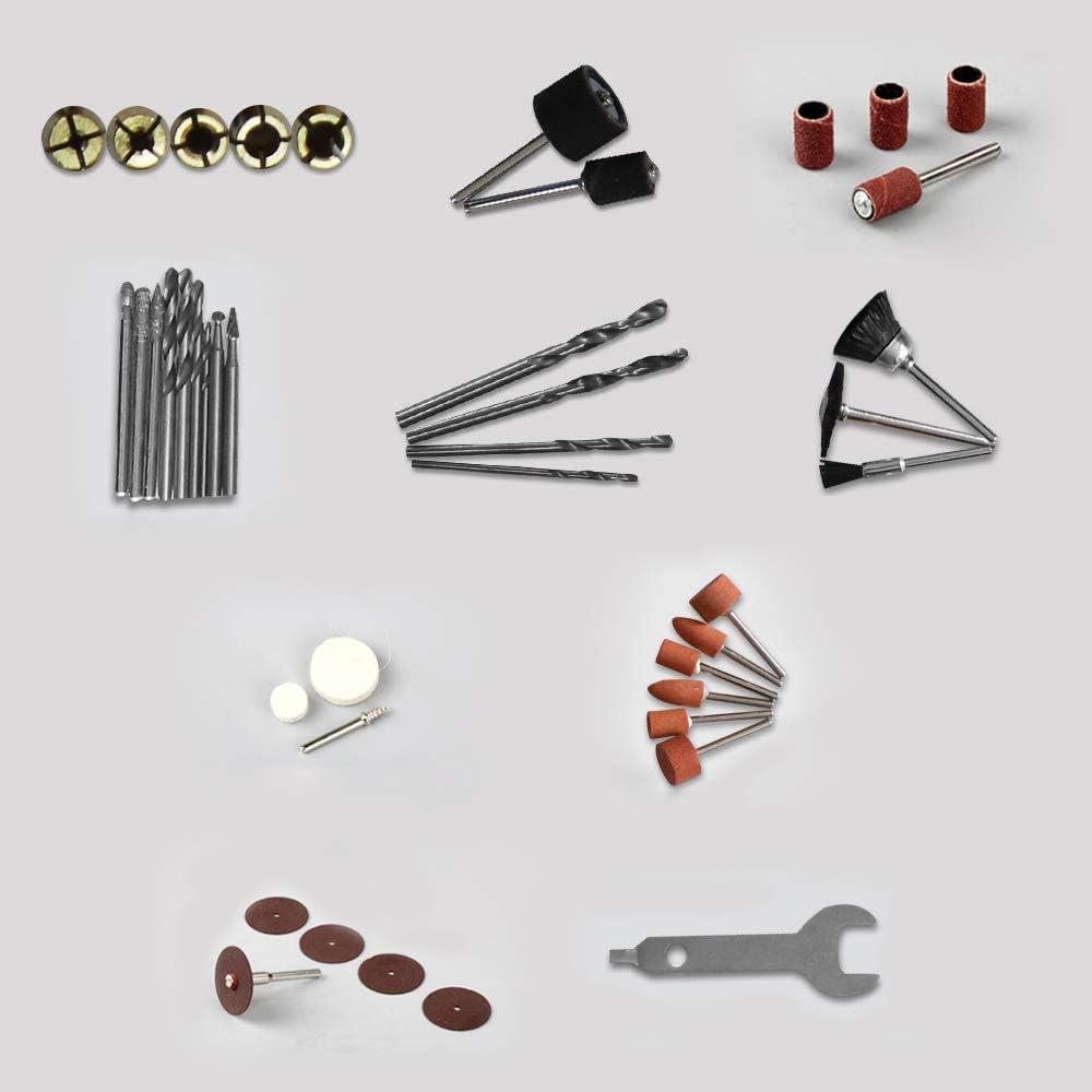 Froadp 226tlg Mini-Winkelschleifer Satz Multifunktionswerkzeug Schleifermachine mit Zubeh/ör f/ür Handgefertigt und Heimwerker