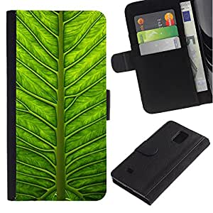 All Phone Most Case / Oferta Especial Cáscara Funda de cuero Monedero Cubierta de proteccion Caso / Wallet Case for Samsung Galaxy Note 4 IV // Green Biology Nature Sun Summer