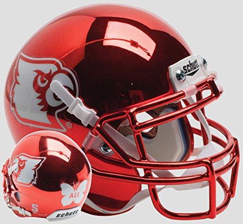 LOUISVILLE CARDINALS NCAA Schutt XP Authentic MINI Football Helmet (RED CHROME/ALI)