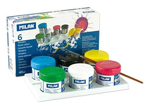 Milan 03206 - Pack de 6 témperas, 40 ml, multicolor
