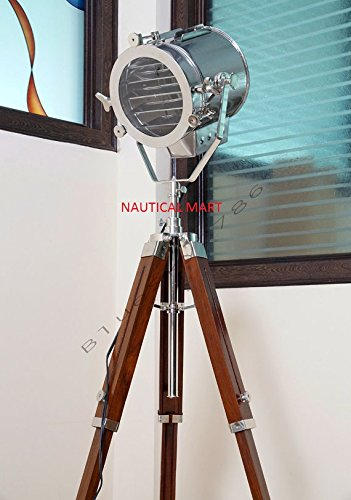 (Vintage Theater Stage Spotlight Nautical Floor Lamp By NauticalMart)