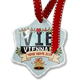Add Your Own Custom Name, Airport code VIE / Vienna country: Austria Christmas Ornament NEONBLOND