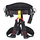 YaeCCC Thicken Climbing Harness, Protect Waist Thigh Safety Harness, Wider Half Body Harness for Rock Climbing Mountaineering Caving Expanding Training Women Men Child Belts Rappelling Equip