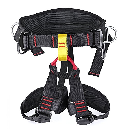YaeCCC Thicken Climbing Harness, Protect Waist Thigh Safety Harness, Wider Half Body Harness for Rock Climbing Mountaineering Caving Expanding Training Women Men Child Belts Rappelling Equip by YaeCCC