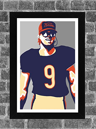 Chicago Bears Jim McMahon Portrait Sports Print Art (Chicago Bears Wrapping Paper)