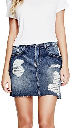 GUESS Women's Giselle Denim Miniskirt