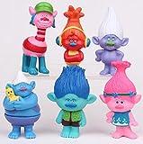 ganggamtop Trolls Poppy Branch Playset 6 Figure Cake Topper USA SELLER Toy Doll Set