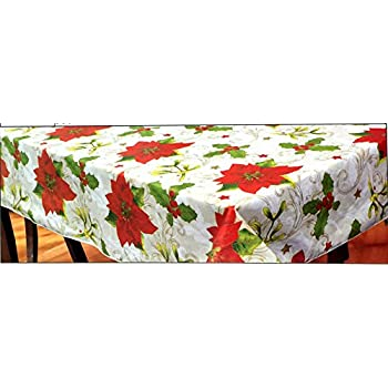 Amazon.com: Premium Quality Christmas Vinyl Tablecloth ...