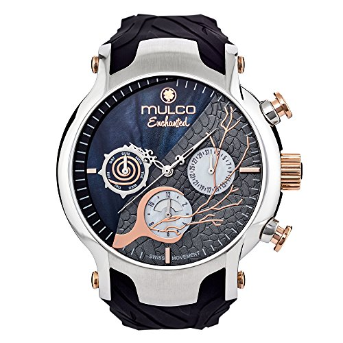 Mulco MW5-3812-021 Enchanted Woods Collection Black Silicone Band