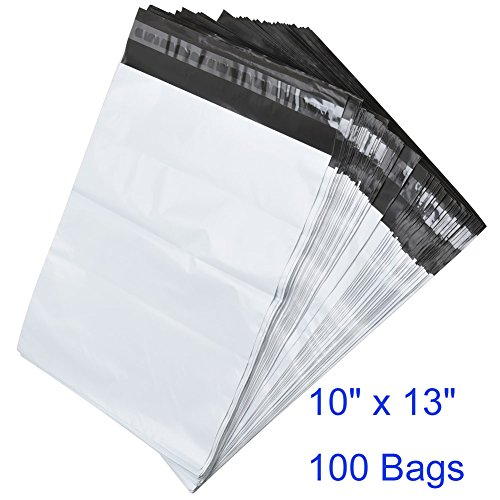 BESTEASY Poly Mailers Shipping Envelopes Bags, 10 x 13-inch, 100 Bags, White