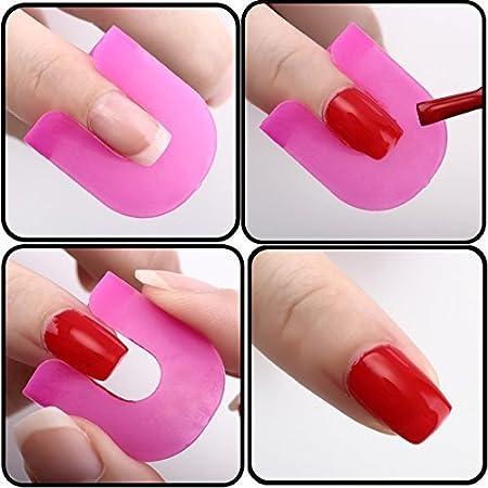 Demarkt 26Pcs Uñas Guias Formas Moldes Clip Esmalte Polaco Gel Palissade Nail Manicura: Amazon.es: Belleza