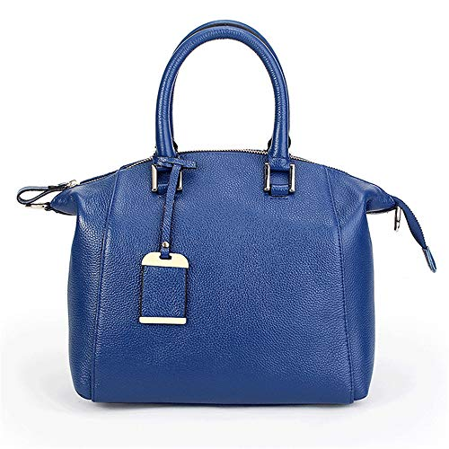 Le Sacs Véritable Aux Femmes Haute Capacité Main Nouveau Sac Cuir Veines À Blue Bandoulière Mode Dame De Litchi 6C65rzx