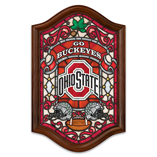The Bradford Exchange Officially Licensed Ohio State University Stained Glass Wall Decor Lights Up ()