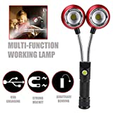 Black, LED Working Light, Ikevan Multifunction Portable COB Lamp Work Light Lamp Flashlight Torch Magnetic Hot
