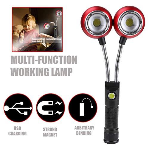 Black, LED Working Light, Ikevan Multifunction Portable COB Lamp Work Light Lamp Flashlight Torch Magnetic Hot by Ikevan_Work Lights