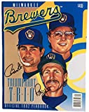 Paul Molitor Robin Yount Signed Milwaukee Brewers Official 1992 Yearbook SI COA