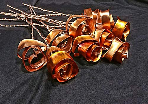 Set of 3 Bright Copper Forever Roses #813'' I Love You'' Steampunk - Wedding Prom Graduation 7th Anniversary Regalo de Aniversario Hanukkah Kwanzaa Valentine's Mother's Day Christmas Gift ! by Refreshing Art (Image #2)'