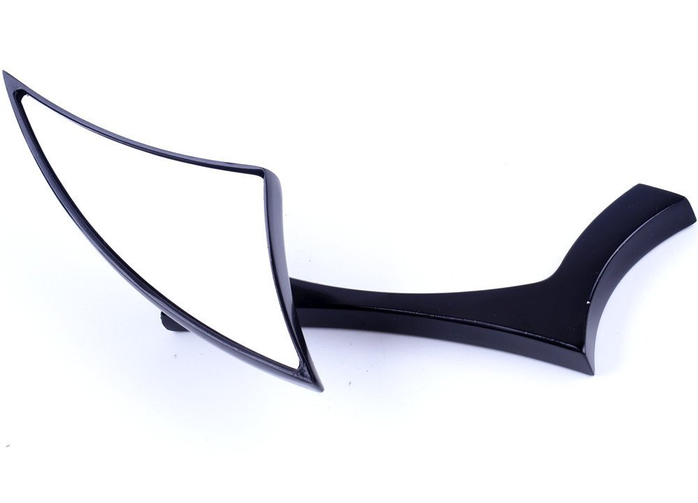 XYZCTEM Modern Stylish Custom Black Side Review Mirrors for Motorcycle, Street Bike, Naked Bike, Cruiser, Chopper(8mm and 10mm adapters)-Pair by XYZCTEM (Image #5)