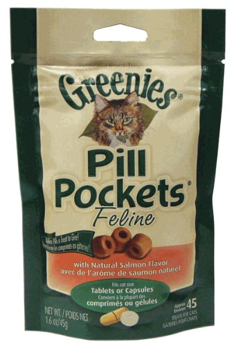 Pill Pockets for Cats – Salmon – 45 count, My Pet Supplies