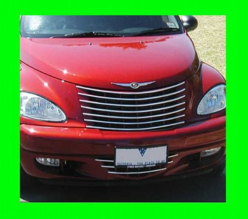 2000 2005 chrysler pt cruiser chrome grille grill kit 2001. Black Bedroom Furniture Sets. Home Design Ideas