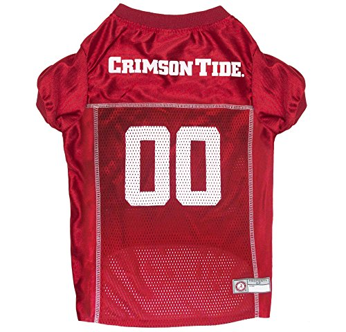 Pets First NCAA Alabama Crimson Tide Dog Jersey, Small