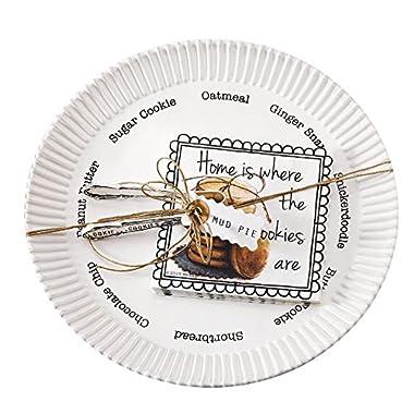 Mud Pie Circa Cookie Plate Set, White