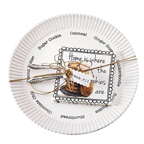- Mud Pie Circa Cookie Plate Set, White